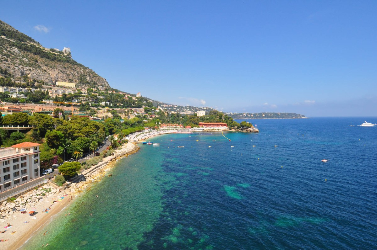 1. View of Monaco from helicopter