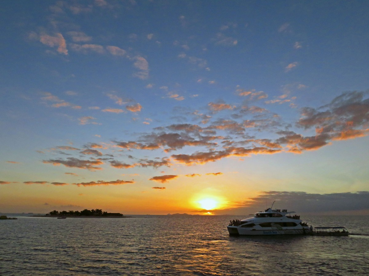 20. Sunset from South Sea Cruises boat