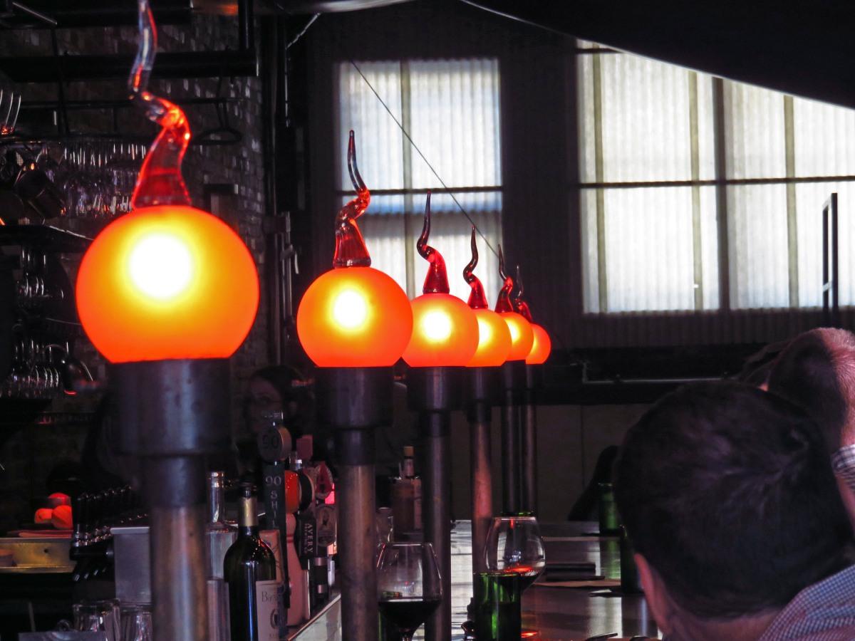 3. Vesta restaurant lights
