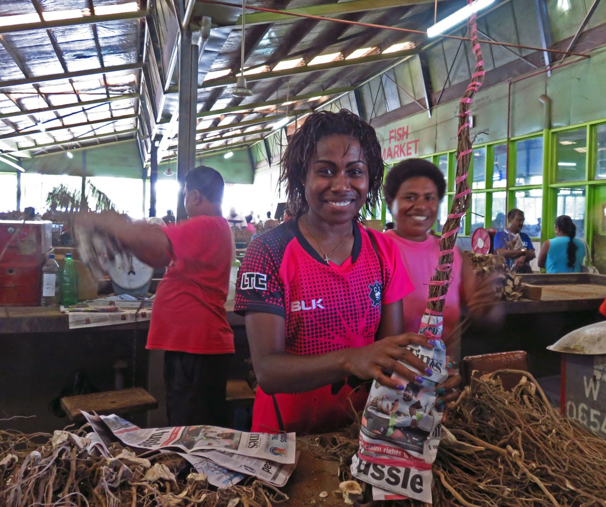 5. Kava at Nadi market