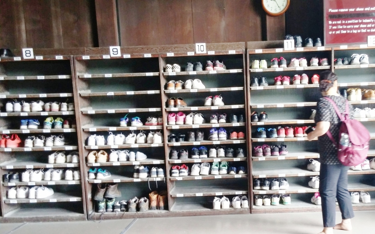 5. Shoes on Shelf