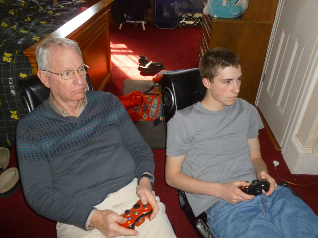 6    Adult Nicolas and Granddad