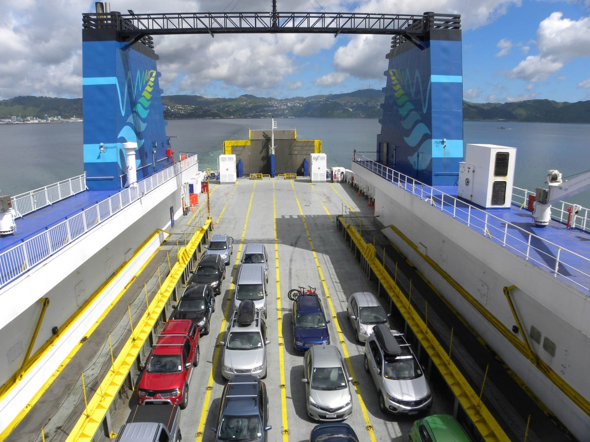 6. cars on ferry NZ 400K