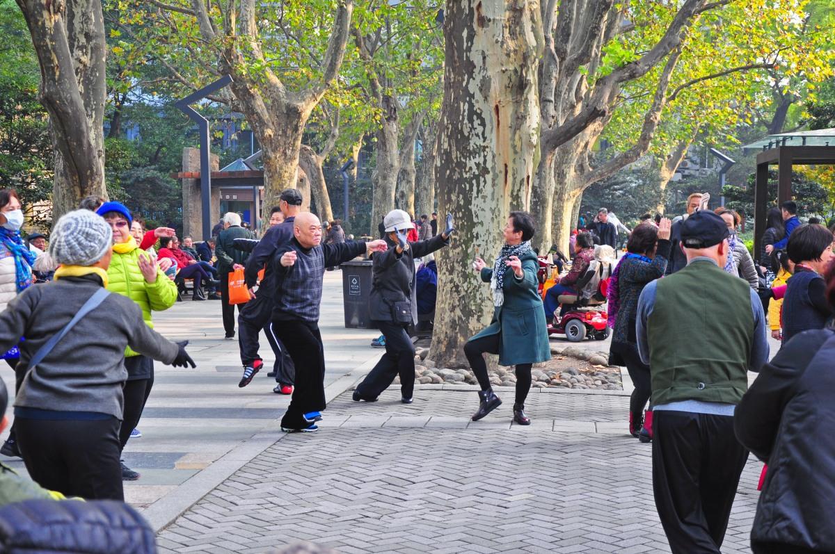 9. Tai Chi in a park