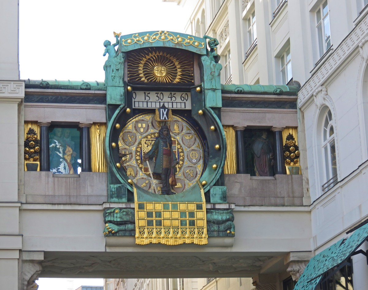 Ankeruhr clock in Vienna