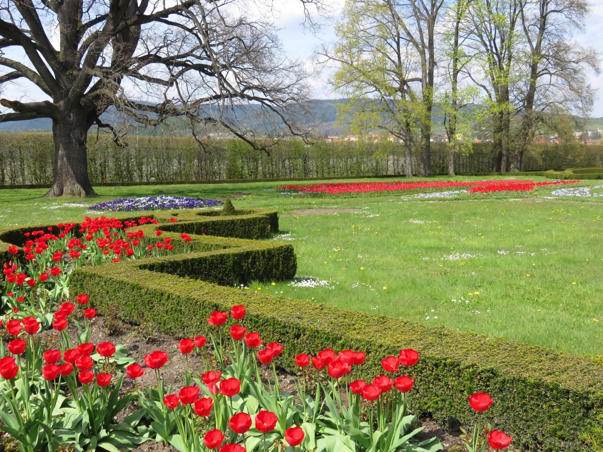 Gardens in Cesky Krumlov