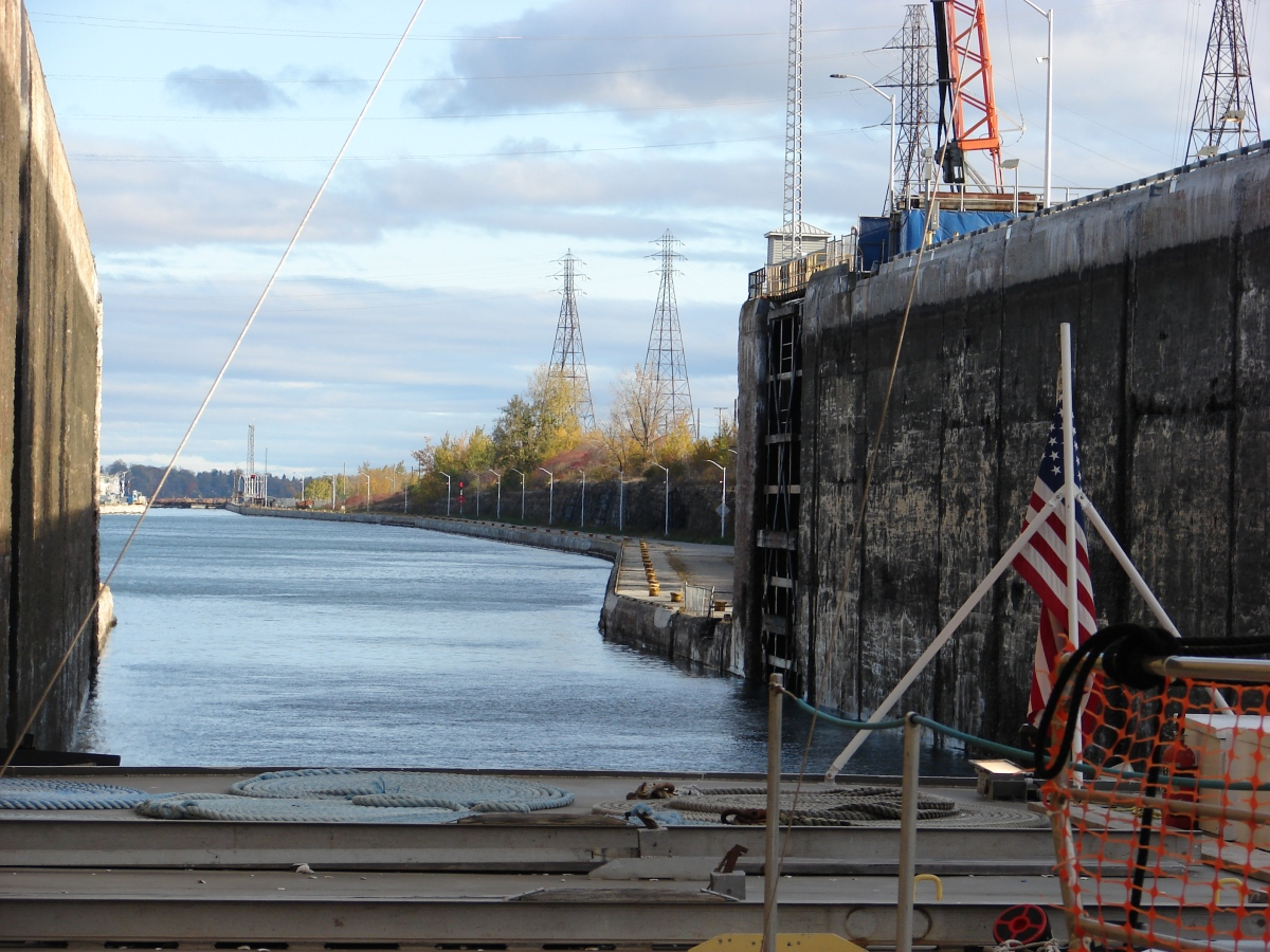 Locking through the St. Lawrence Seaway