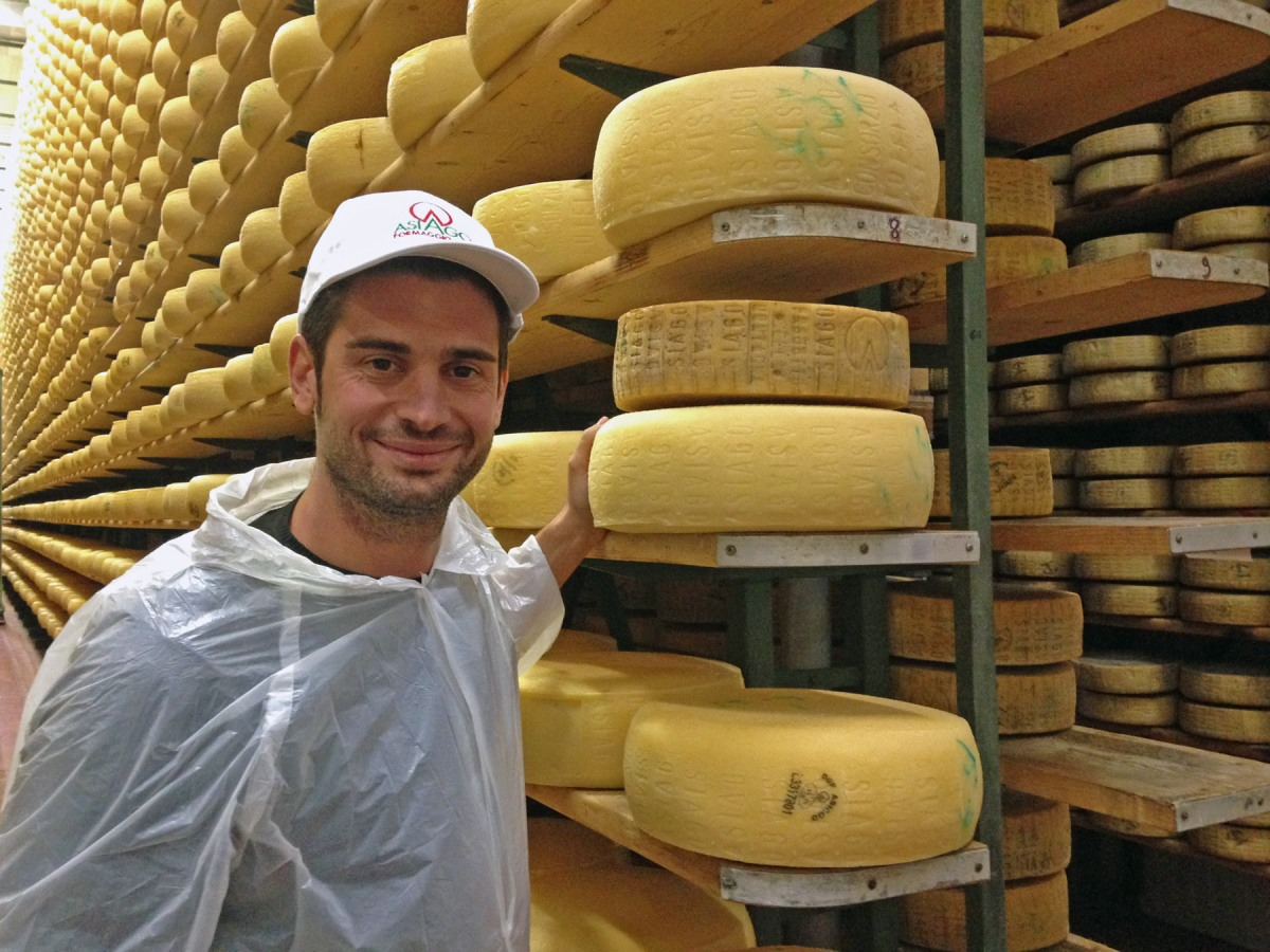 2. Asiago cheese storage