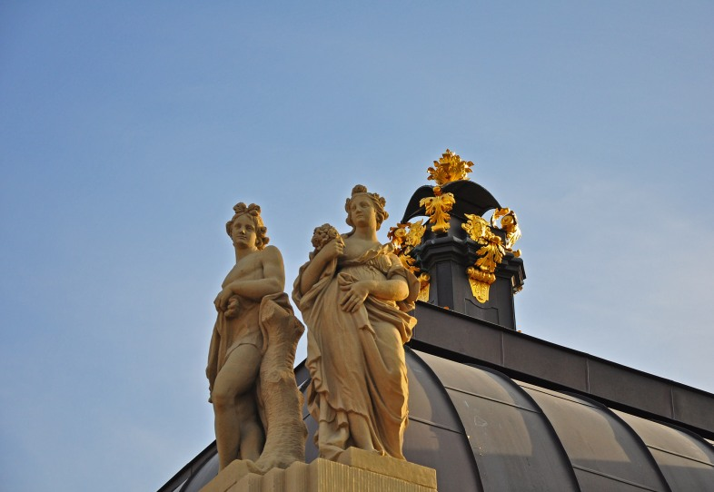 Zwinger roof detail in Dresden